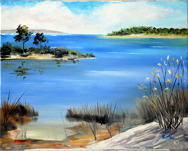 Water Painting - Afternoon Water by Phil Burton