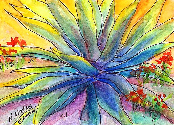 Agave Painting - Agave by Nancy Matus