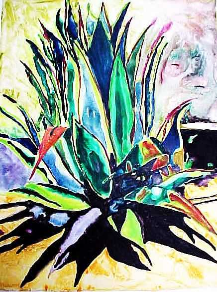 Southwest Painting - Agave On Yupo by Kitty Schwartz