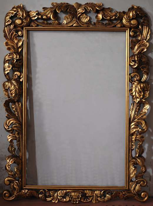 Frames Painting - Aged Hand Carved Frame With Gold Leaf by Art Trouve