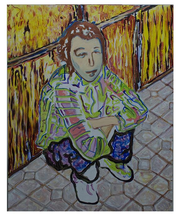 Portrait Painting - Agnez by Bruce Wulff