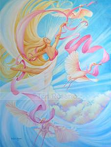 Goddess Painting - Air - The Element Series by Teri Rosario