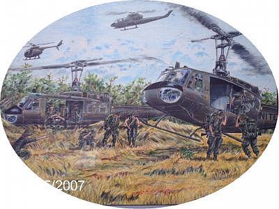 Air Cav Combat Assualt Drawing by James Beal