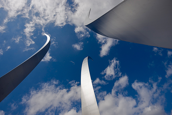 Travel Photograph - Air Force Memorial by Louise Heusinkveld