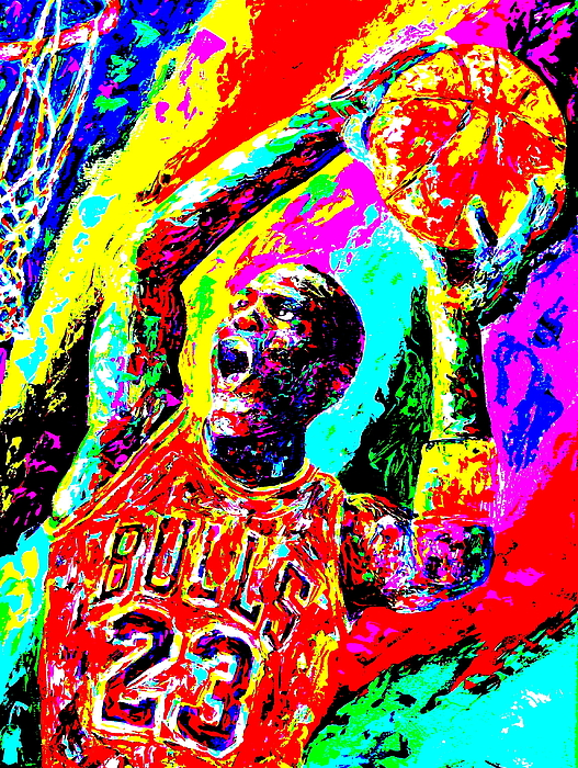 Air Jordan Painting - Air Jordan by Mike OBrien