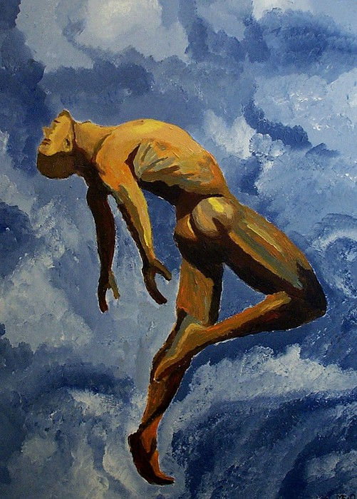 Nude Painting - Air by Mats Eriksson