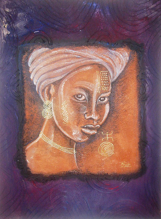 African Beauty Mixed Media - Alaba by Peter Otim Angole