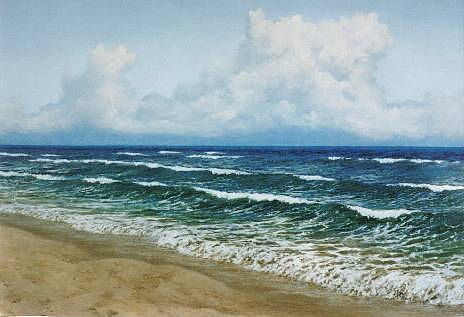 Seascape Painting - Alabama Coastline by Steven Welch