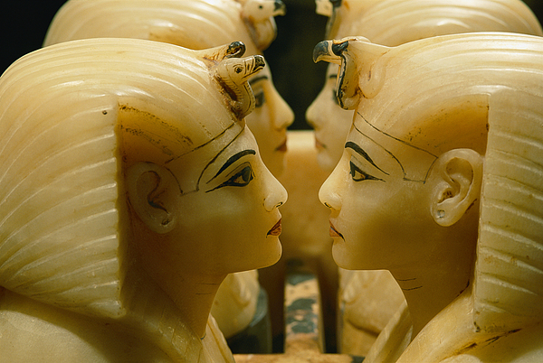 Egypt Photograph - Alabaster Carvings Found In The Tomb by Kenneth Garrett