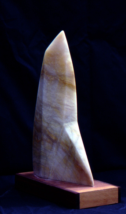 Sculpture Sculpture - Alabaster Sail by Bert Garrison