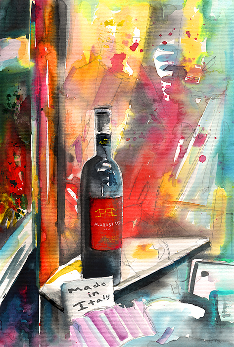 Italy Painting - Alabastro Wine From Italy by Miki De Goodaboom