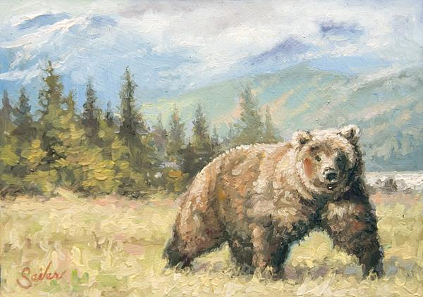 Brown Bear Painting - Alaskan Brownie by Larry Seiler