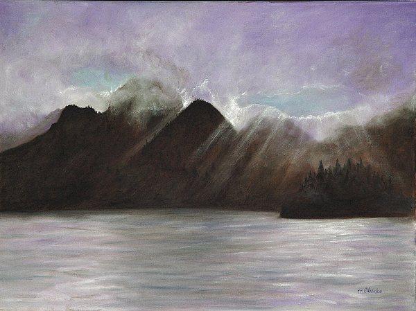 Waterscape Painting - Alaskan Morning by Merle Blair
