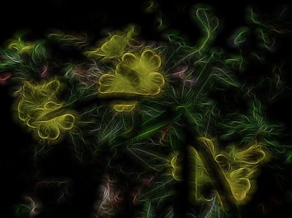 Abstract Digital Art - Alchemical Gold by William Horden