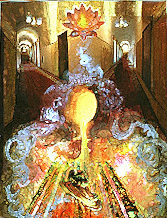 Mystical Mixed Media - Alchemy by Anne Cameron Cutri