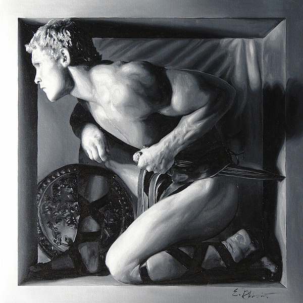 Male Painting - Alert 4 by E Gibbons