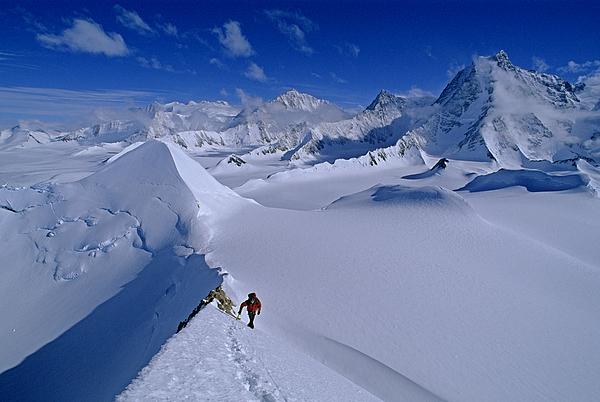 Outdoors Photograph - Alex Lowe On Mount Bearskin 2850 M by Gordon Wiltsie