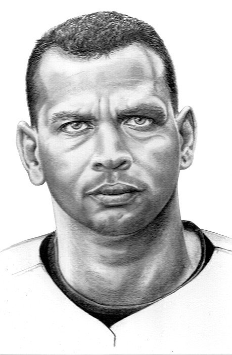 Portrait Drawing - Alex Rodrigues by Murphy Elliott