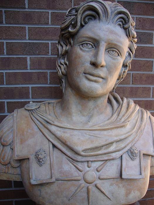 Alexander The Great Bust Stone Sculpture Sculpture by Goran Gecovski