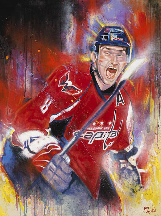 Hockey Painting - Alexander The Great by Gary McLaughlin