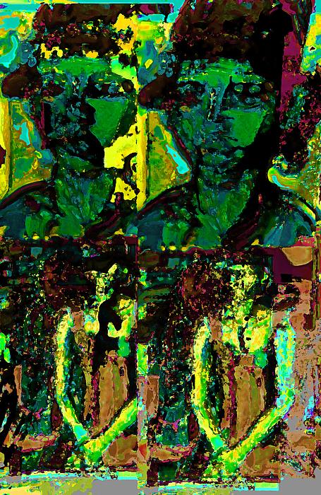 Human Composition Mixed Media - Alexanrdia by Noredin Morgan