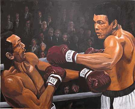 World Champion Painting - Ali Vs Foster by Kenneth Kelsoe