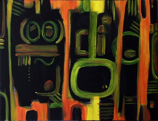 Humorous Painting - Alien Interception by Lynda Lehmann