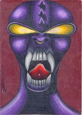 Alien Drawing by Miranda Pollert
