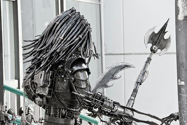 Alien Sculpture - Alien Predator by Yurix Sardinelly