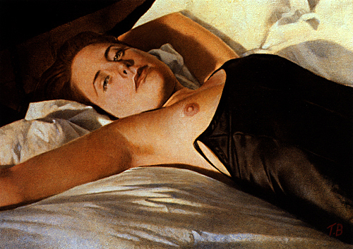 Female Painting - Alison In Nightdress by Toby Boothman
