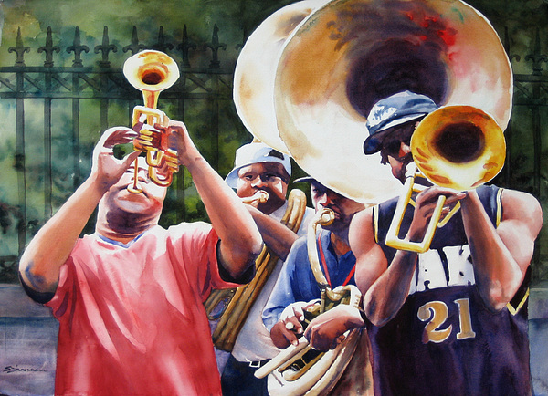 Music Painting - All Brass by Sue Zimmermann