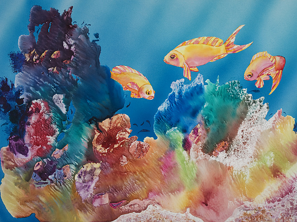 Aquatic Painting - All Dressed Up by Tanya L Haynes - Printscapes