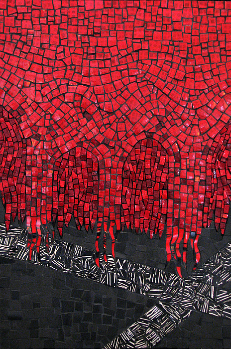 Red Mixed Media - All I See Is Red by Virginia Gardner