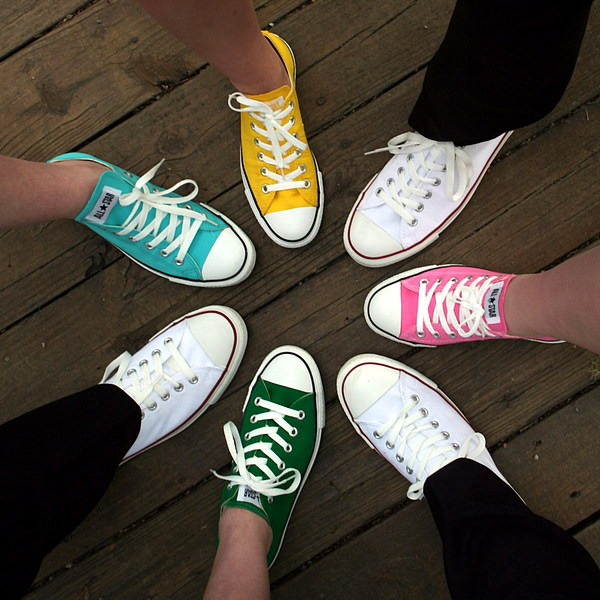 Sneakers Photograph - All Stars Ready For The Prom by Rebecca Smith