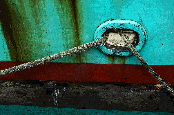 Boats Photograph - All Tied Up by Bob Christopher