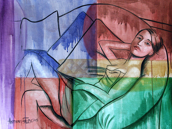 Cubism Framed Prints Painting - All Wet by Anthony Falbo