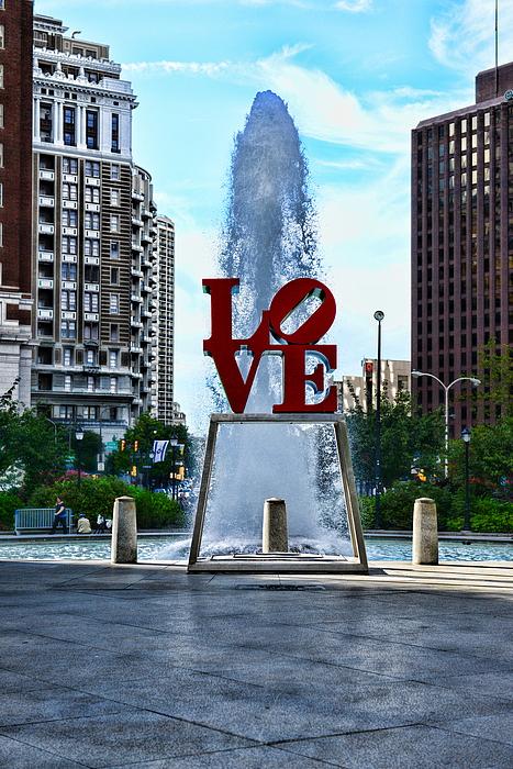 Love Park Photograph - All You Need Is Love by Paul Ward