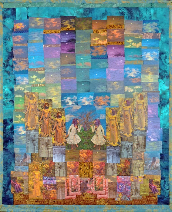 Art Quilt Tapestry - Textile - All Your Dreams Come True by Roberta Baker