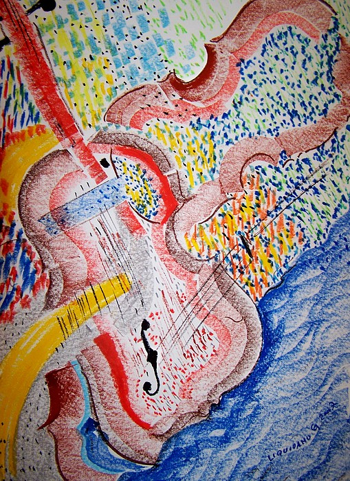 Music Painting - Allegro  By Mozart by Geraldine Liquidano