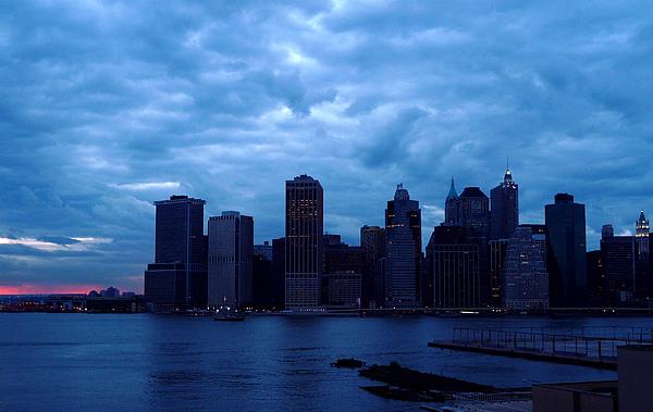 Manhattan Photograph - Alls Quiet In Lower Manhattan by Kendall Eutemey