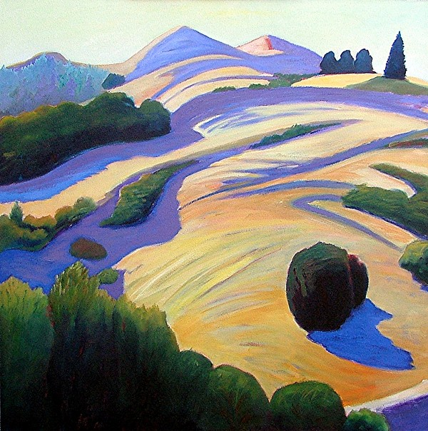 Hills Painting - Alluring Windy Hill by Gary Coleman