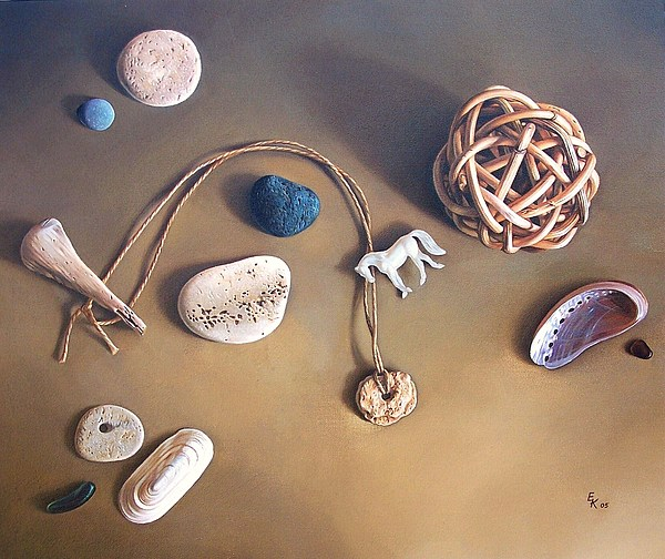 Still Life Painting - Almost Forgotten Memories by Elena Kolotusha
