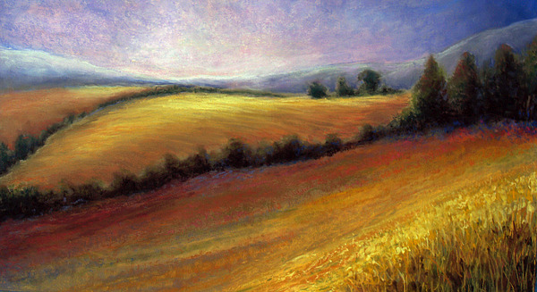 Field Painting - Almost Heaven by Susan Jenkins