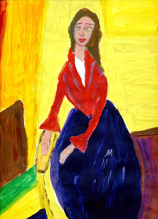 Alone Painting - Alone And Lonely by Anna Angelou