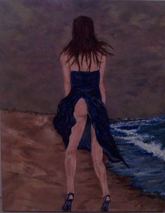 Sexy Painting - Alone By The Sea by Francis Bourque