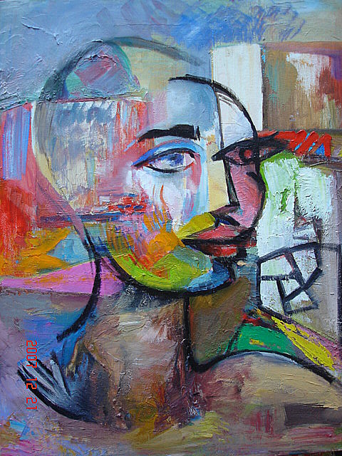 Portrait Painting - Alone In The City by Emin Guliyev