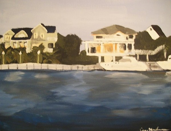 Boats Painting - Along The Charleston Sound by Casey Bingham