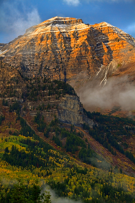 Mount Timpanogos Photograph - Alpenglow On Mt. Timpanogos by Utah Images