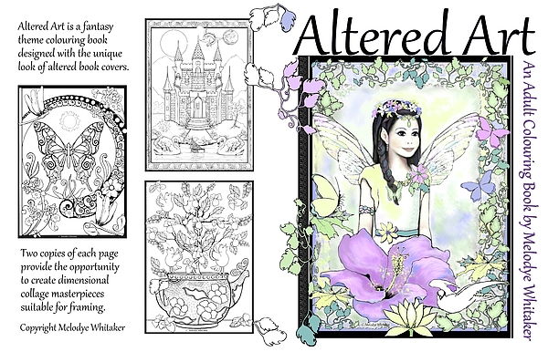 Adult Coloring Book Digital Art - Altered Art Adult Coloring Book by Melodye Whitaker
