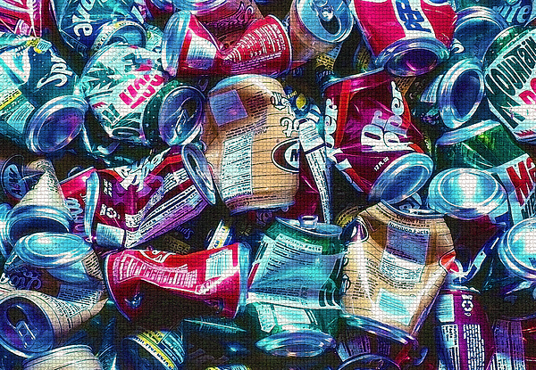 Recycle Photograph - Aluminum Cans - Recyclables by Steve Ohlsen